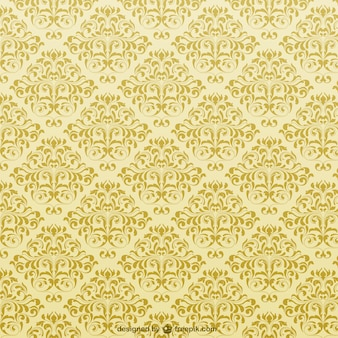 Yellow ornamental background