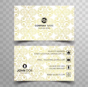 Yellow ornamental visiting card design