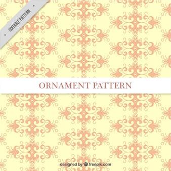 Yellow ornamental wedding pattern