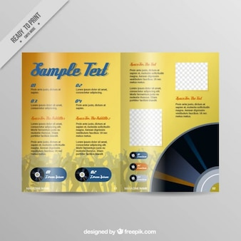 Yellow pages magazine template