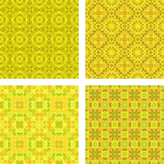 Yellow patterns collection