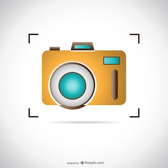 Yellow photo camera