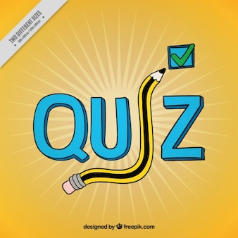 Yellow quiz background with questions
