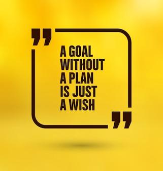 Yellow quote design