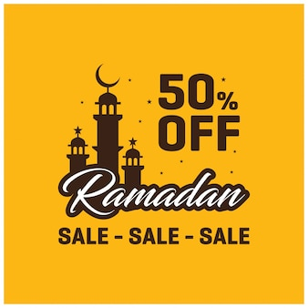 Yellow ramadan sale background