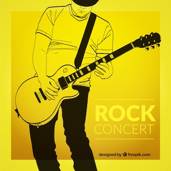 Yellow rock concert poster