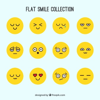 Yellow smile collection
