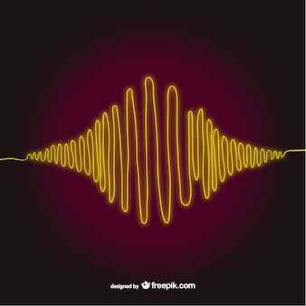 Yellow sound wave