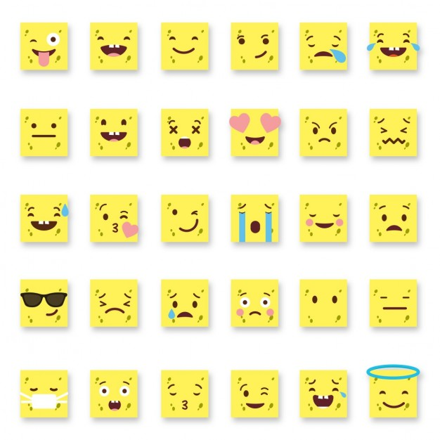 Yellow square emoticons