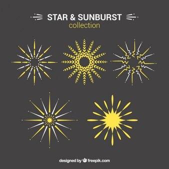 Yellow star and sunburst set