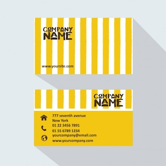 Yellow stripes business card