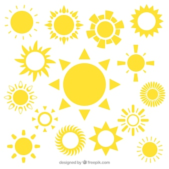 Yellow sun icons