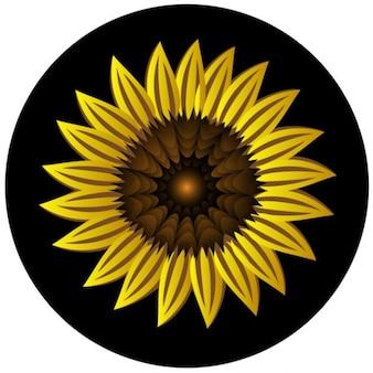 Yellow sunflower vector clip art