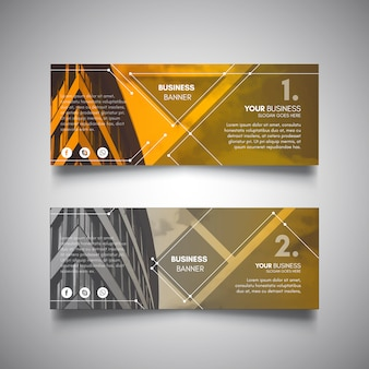 Yellow technology banners for business