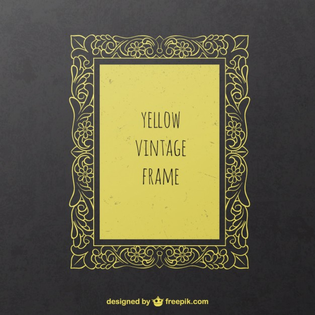 Yellow vintage frame