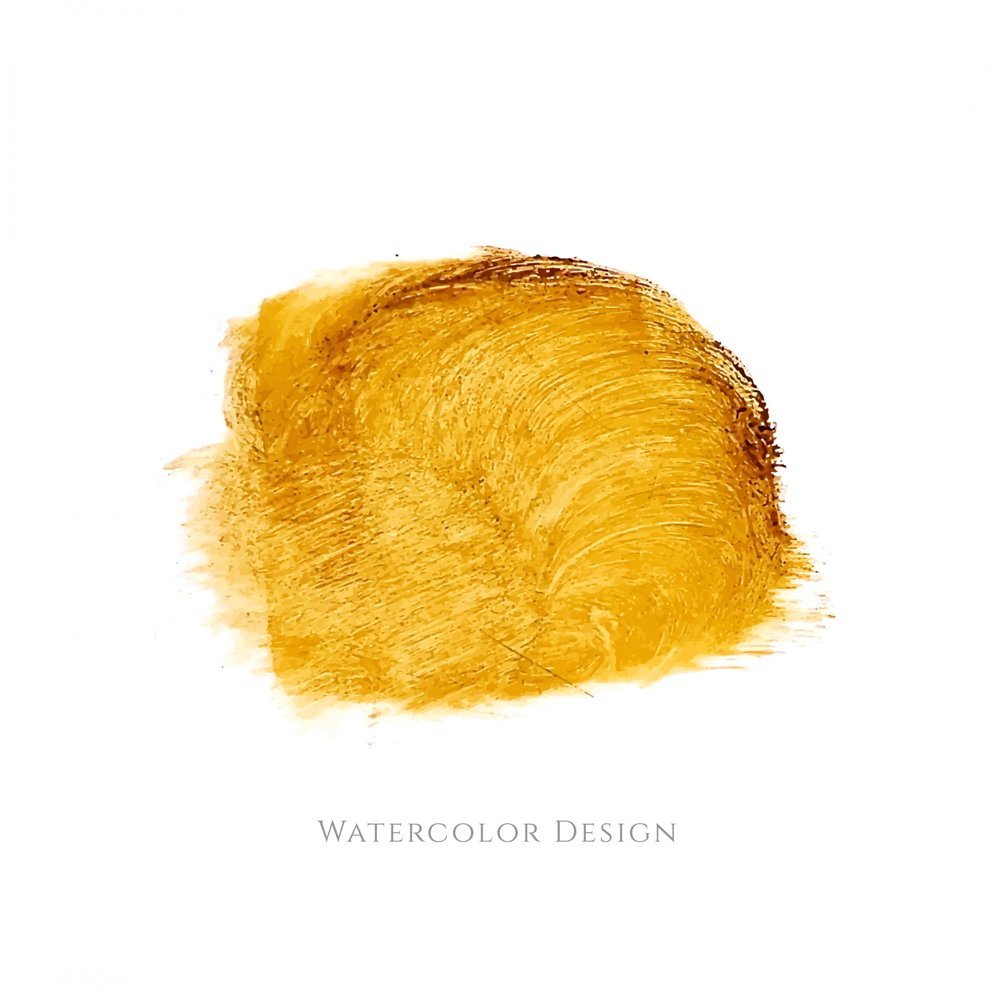 Yellow watercolor stain design