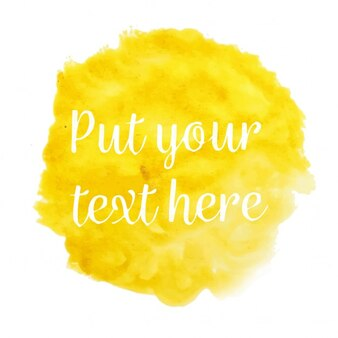 Yellow watercolor with text template
