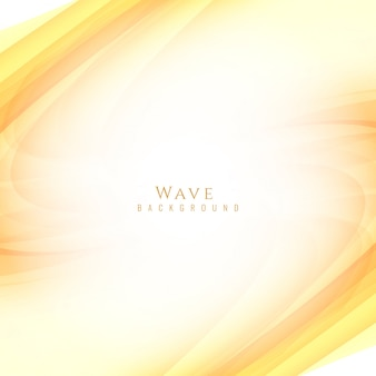 Yellow wavy background design