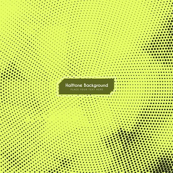 Yellowish background with halftone dots