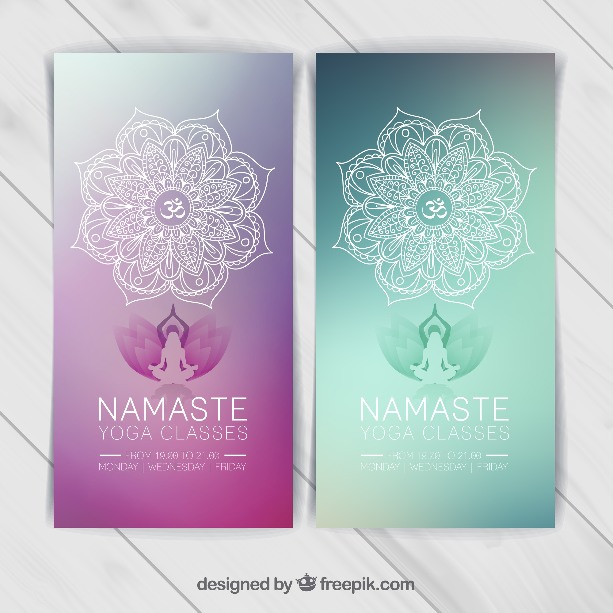 Yoga banners template