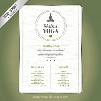 Yoga center brochure