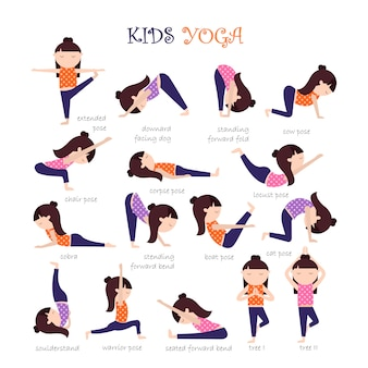 Yoga poses collection