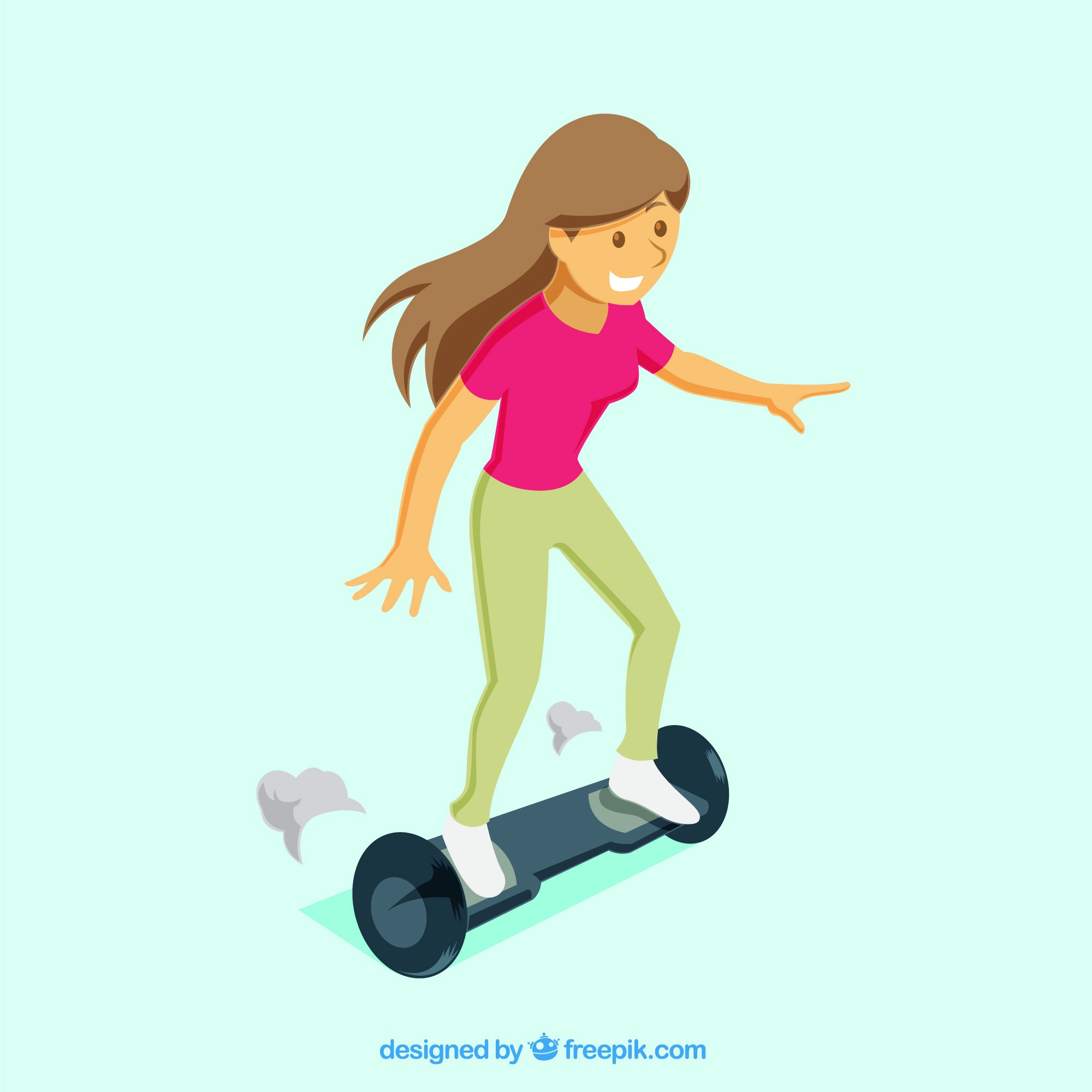 Young girl on electric scooter