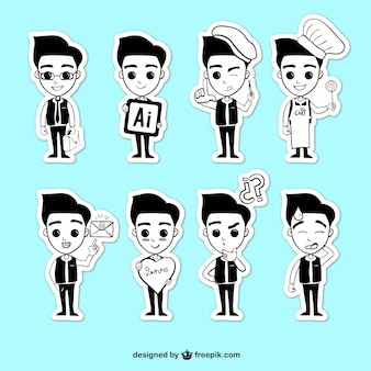 Young man illustrations
