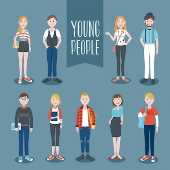 Young people collection