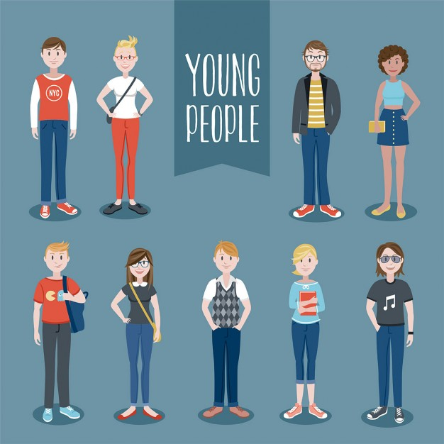 Young people set