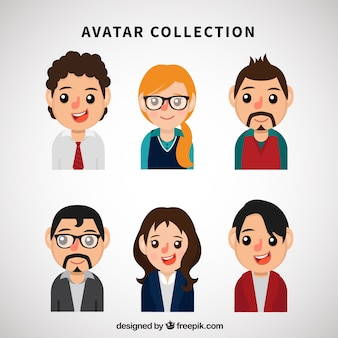 Young professionals avatars