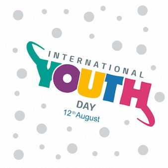 youth day background with colorful text