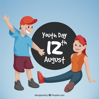 Youth day background with friends