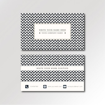Zig zag pattern business card