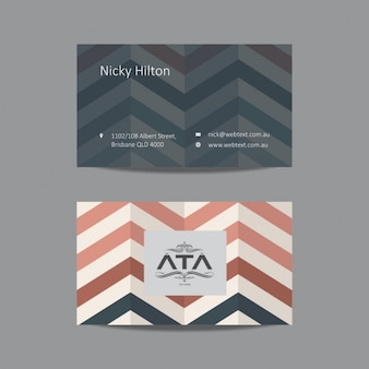 Zigzag Business card template