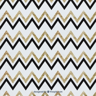 Zigzag Watercolor Pattern