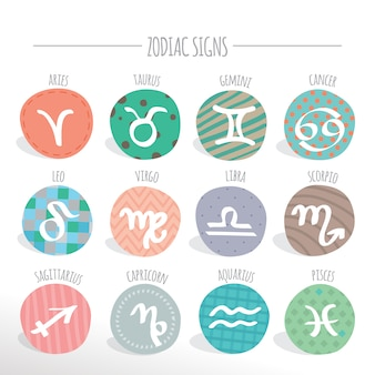 Zodiac signs collection