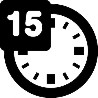 15 Minuten auf der Uhr