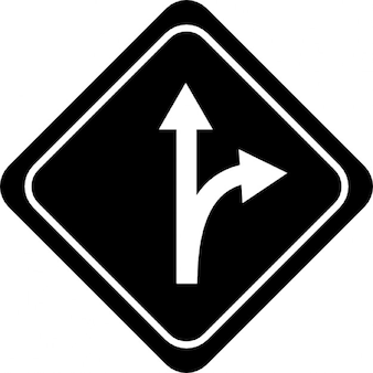 Abweichung Pfeile Signal der Straße
