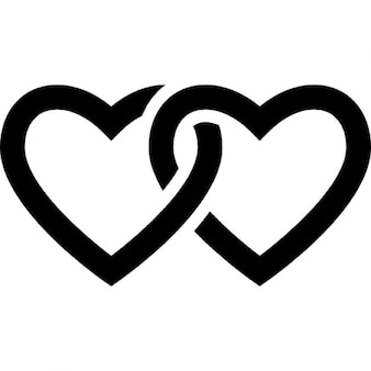 Angekettet Herz-Kontur