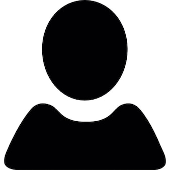 Benutzer schwarze Form