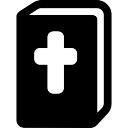 Bibel mit Kreuz im Deckel