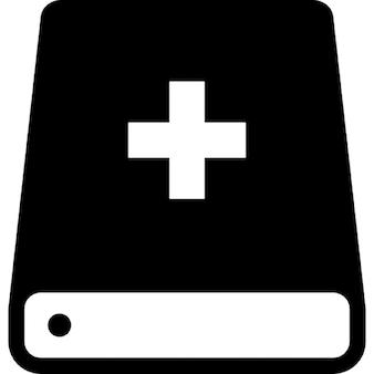 Bibel mit Kreuz-Symbol-Variante