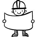 Constructor Hand gezeichnet worker