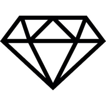 Diamant Umriss