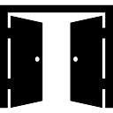 Doppeltür geöffnet