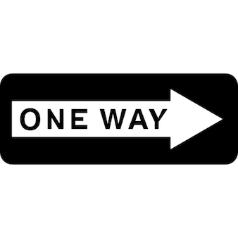 Ein Weg, rechte Pfeilsignal