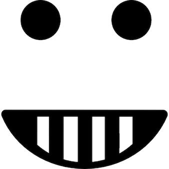 Emoticon glücklich lächelnden Gesichtsform quadratisch