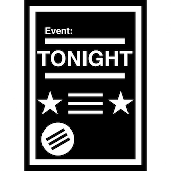 Event-Poster mit weißen Details