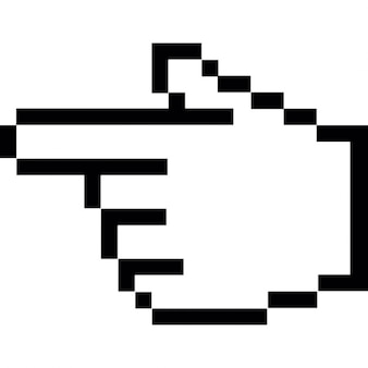 Finger, der auf links